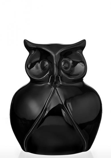 Фото - Статуэтка глянцевая Сова черная мини купить в киеве на подарок, цена, отзывы