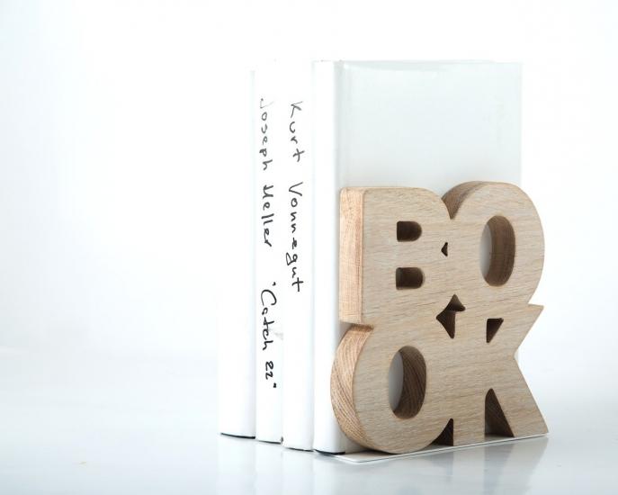 Фото - Держатель для книг Book дерево купить в киеве на подарок, цена, отзывы