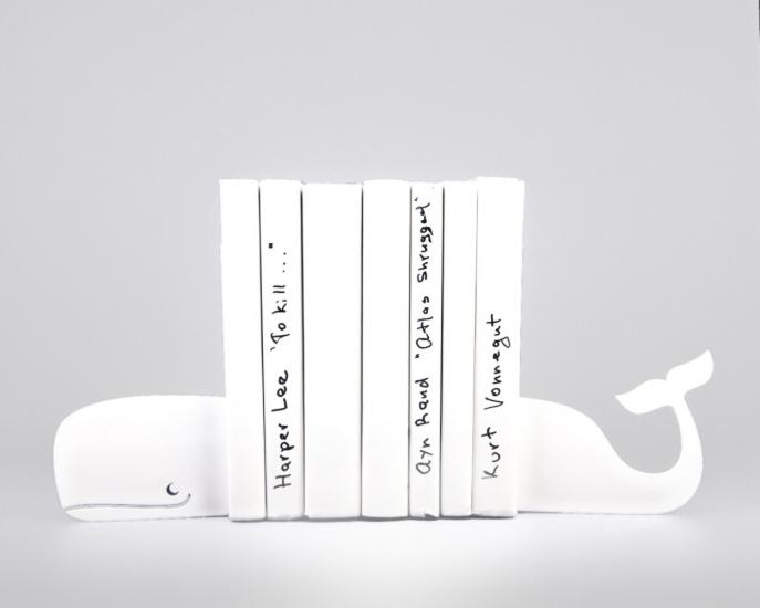 Фото - Держатель для книг Кит белый купить в киеве на подарок, цена, отзывы