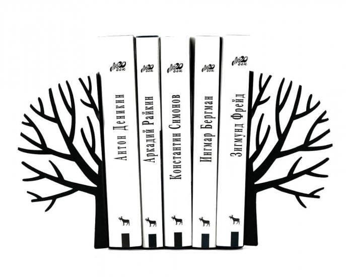 Фото - Держатель для книг Зимнее дерево черное купить в киеве на подарок, цена, отзывы