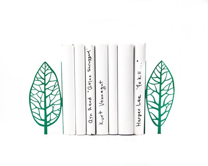 Фото - Держатель для книг дерево Магритта зеленое купить в киеве на подарок, цена, отзывы