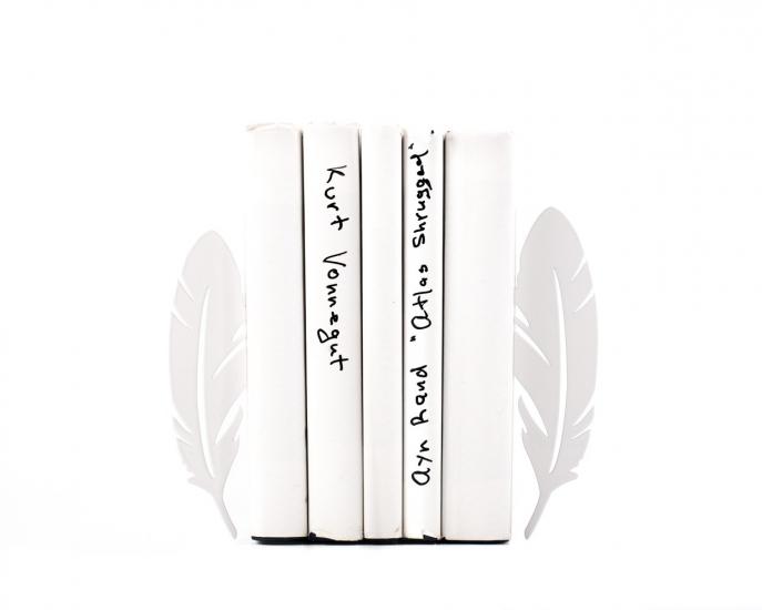 Фото - Держатель для книг Перья белые купить в киеве на подарок, цена, отзывы