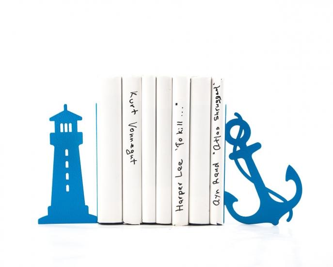 Фото - Держатель для книг Маяк и якорь синий купить в киеве на подарок, цена, отзывы