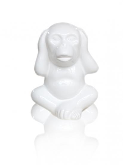 Фото - Статуэтка Обезьянка с закрытыми ушами белая купить в киеве на подарок, цена, отзывы