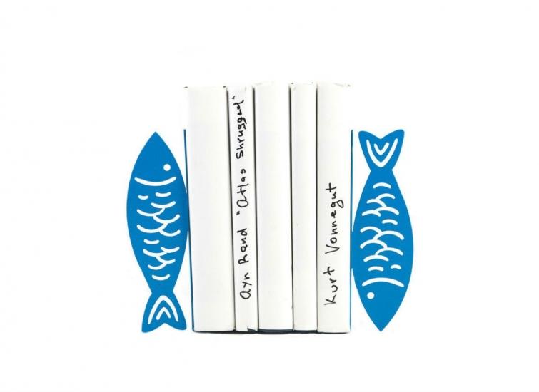 Фото - Держатель для книг Рыбы синие купить в киеве на подарок, цена, отзывы