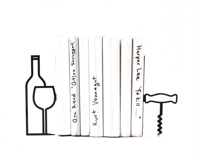 Фото - Держатели для книг Больше вина меньше нытья купить в киеве на подарок, цена, отзывы