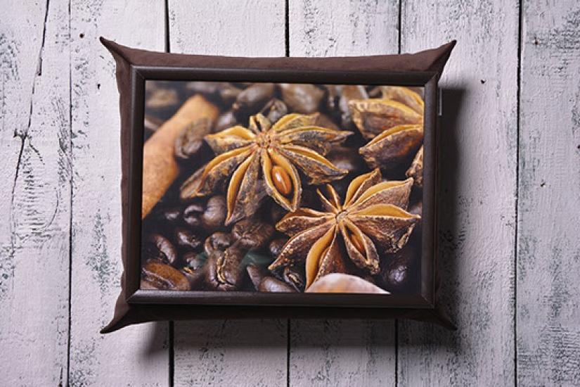 Фото - Поднос с подушкой Coffee купить в киеве на подарок, цена, отзывы