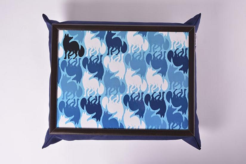 Фото - Поднос на подушке Синий лис купить в киеве на подарок, цена, отзывы