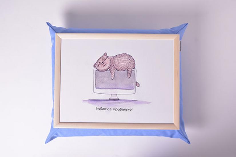 Фото - Поднос на подушке Хорошая работа купить в киеве на подарок, цена, отзывы