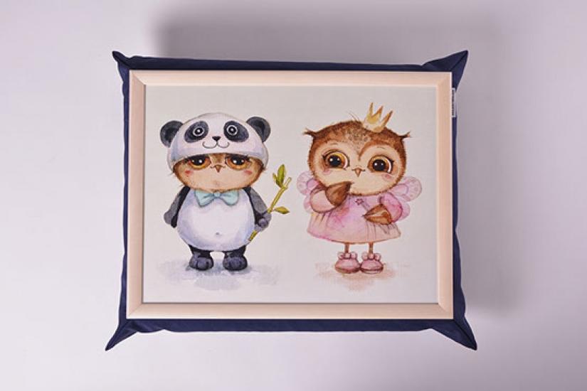 Фото - Поднос на подушке Совята купить в киеве на подарок, цена, отзывы