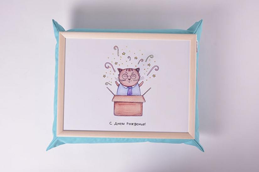 Фото - Поднос на подушке С Днем Рождения купить в киеве на подарок, цена, отзывы