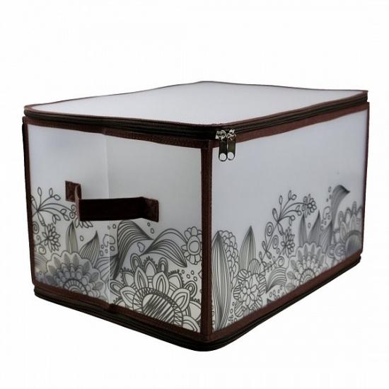 Фото - Короб складной на молнии 30х40х25см коричневий купить в киеве на подарок, цена, отзывы