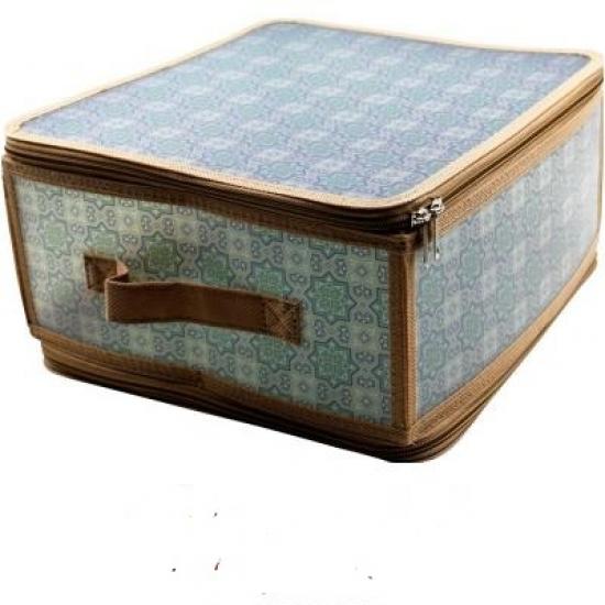 Фото - Короб складной на молнии 30х28х15 см серый купить в киеве на подарок, цена, отзывы