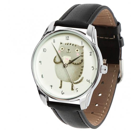 Фото - Наручные часы Кот с кружкой купить в киеве на подарок, цена, отзывы