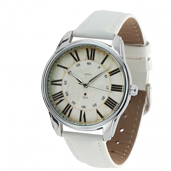 Фото - Наручные часы Лондонский вокзал белые купить в киеве на подарок, цена, отзывы