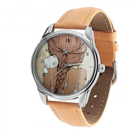 Фото - Наручные часы Девочка с котиком купить в киеве на подарок, цена, отзывы