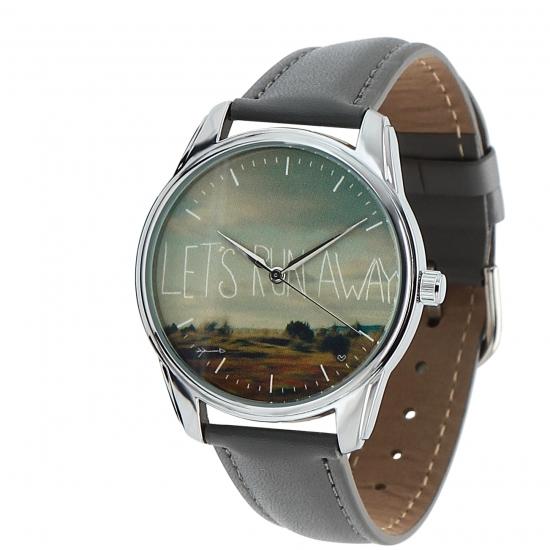 Фото - Наручные часы Побег из реальности серые купить в киеве на подарок, цена, отзывы