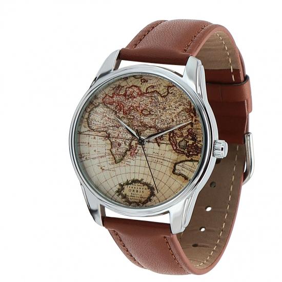 Фото - Наручные часы Карта коричневый купить в киеве на подарок, цена, отзывы