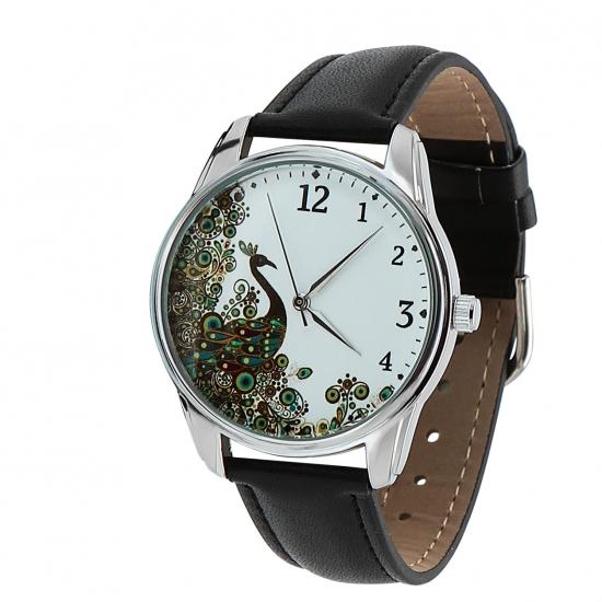 Фото - Наручные часы Павлин черный купить в киеве на подарок, цена, отзывы