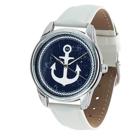 Фото - Наручные часы Якорь белый купить в киеве на подарок, цена, отзывы