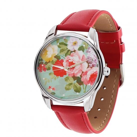 Фото - Наручные часы Розочки красный купить в киеве на подарок, цена, отзывы