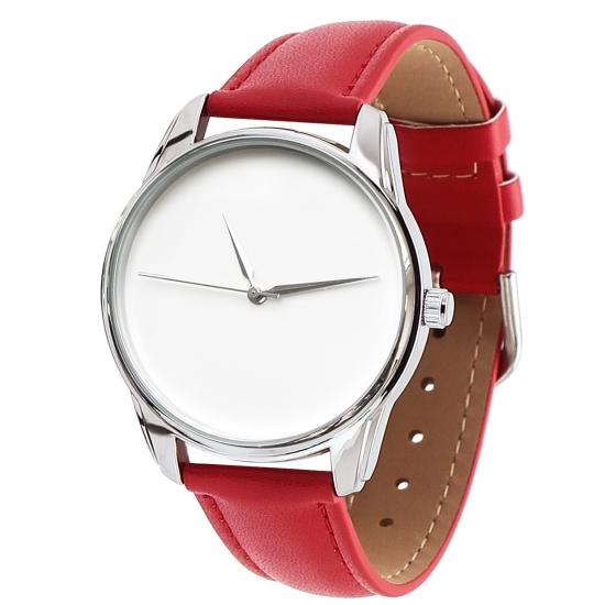 Фото - Часы наручные Минимализм красный купить в киеве на подарок, цена, отзывы