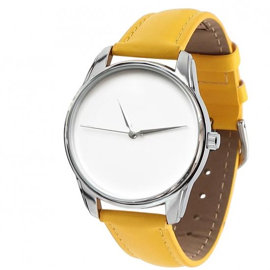 Фото - Часы наручные Минимализм желтый купить в киеве на подарок, цена, отзывы
