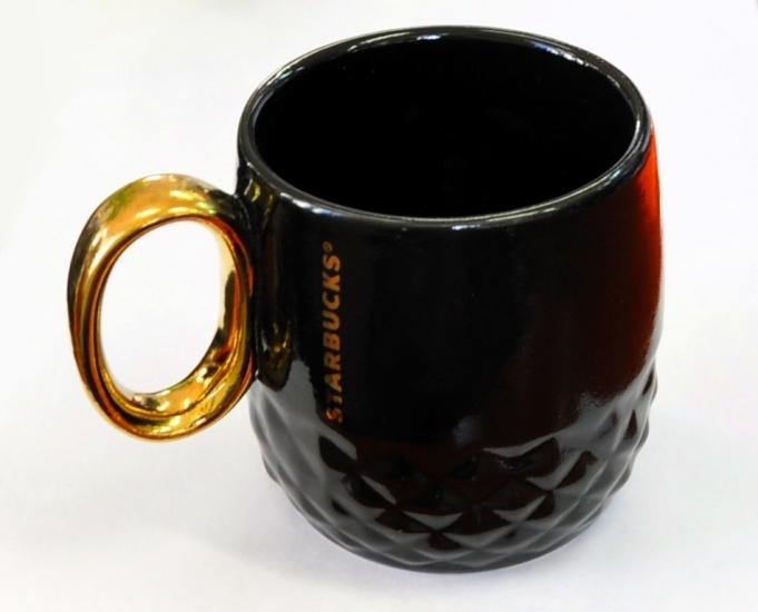 Фото - Керамическая чашка Starbucks Black Gold  купить в киеве на подарок, цена, отзывы