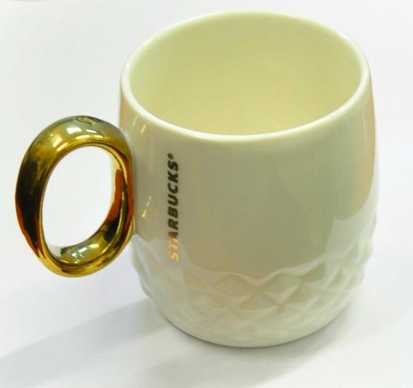Фото - Керамическая чашка Starbucks White Gold  купить в киеве на подарок, цена, отзывы
