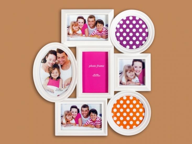 Фото - Фоторамка Семейная на 7 фото Белая купить в киеве на подарок, цена, отзывы