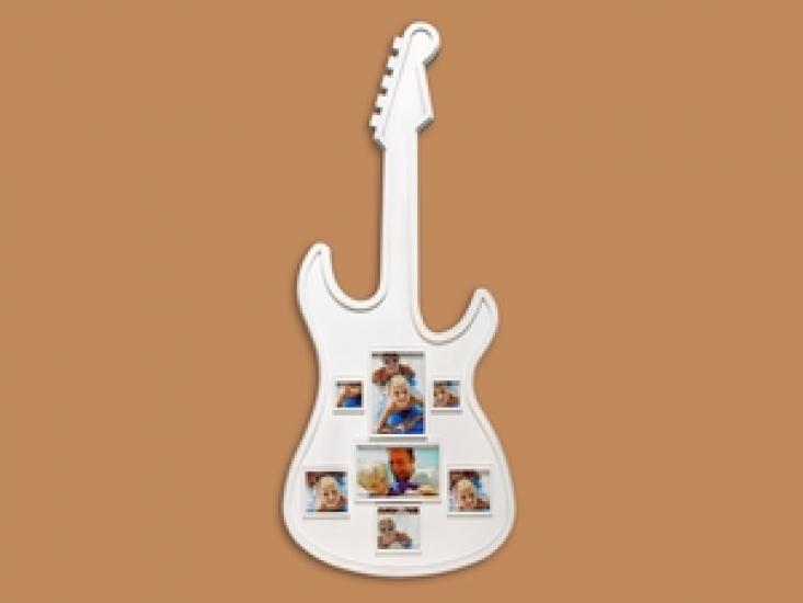 Фото - Фоторамка Семейная на 7 фото Белая Гитара купить в киеве на подарок, цена, отзывы