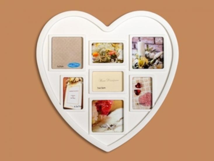 Фото - Фоторамка Семейная на 7 фото Сердце купить в киеве на подарок, цена, отзывы