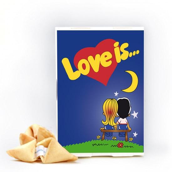 Фото - Печенье с предсказаниями Love is... купить в киеве на подарок, цена, отзывы