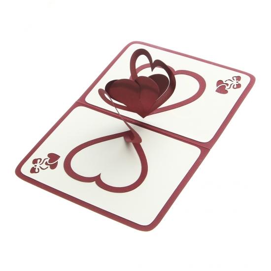 Фото - Объемная открытка Признание в любви бордо купить в киеве на подарок, цена, отзывы