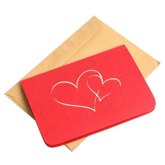 Фото - Объемная открытка Признание в любви красное купить в киеве на подарок, цена, отзывы