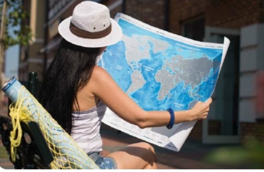 Фото - Скретч карта Discovery Maps World на украинском языке с авоськой купить в киеве на подарок, цена, отзывы