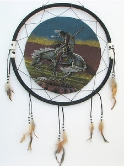 Фото - Ловец снов Индеец на коне 50 см купить в киеве на подарок, цена, отзывы
