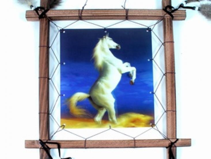 Фото - Ловец снов Конь на дыбах голограмма 40 см купить в киеве на подарок, цена, отзывы
