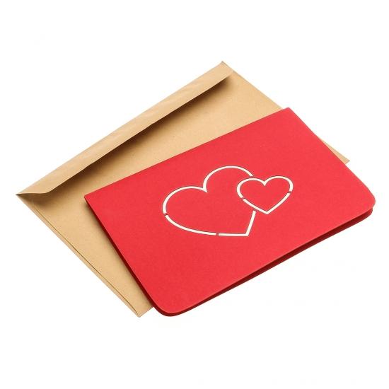 Фото - Объемная открытка Сердца love купить в киеве на подарок, цена, отзывы