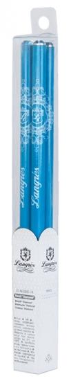 Фото - Карандаш графитовый с кристаллом 4 шт голубой купить в киеве на подарок, цена, отзывы