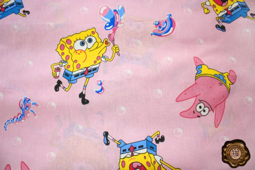 Фото - Комплект постельного белья для детей Патрик и Боб купить в киеве на подарок, цена, отзывы