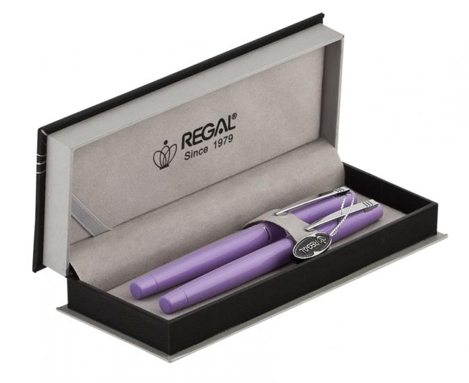 Фото - Набор ручек в подарочном футляре Селена фиолетовый купить в киеве на подарок, цена, отзывы