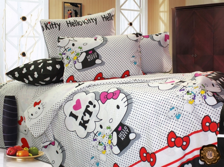 Фото - Комплект постельного белья для детей Hello Kitty купить в киеве на подарок, цена, отзывы