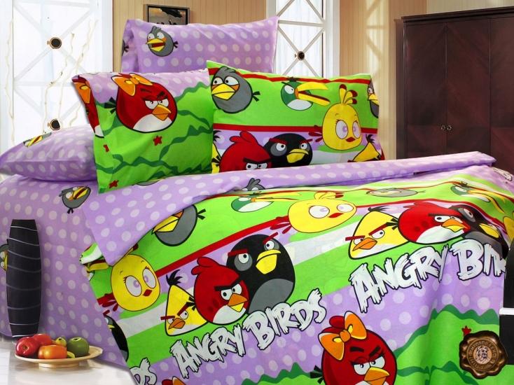 Фото - Комплект постельного белья для детей Angry Birds купить в киеве на подарок, цена, отзывы