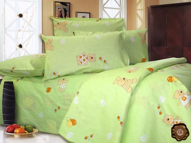 Фото - Комплект постельного белья для детей Мишка и пчелки купить в киеве на подарок, цена, отзывы