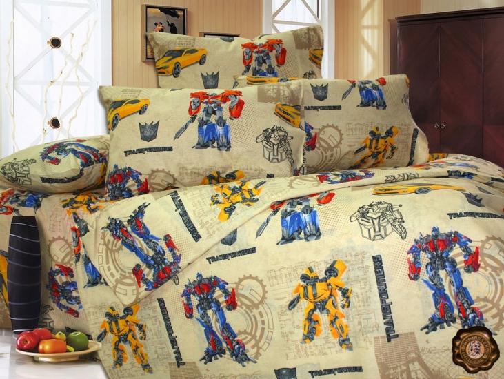Фото - Комплект постельного белья для детей Transformers купить в киеве на подарок, цена, отзывы
