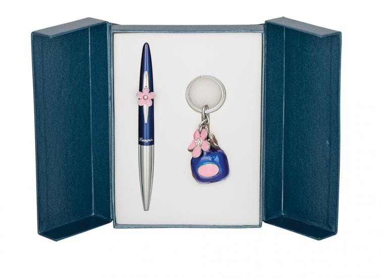 Фото - Подарочный набор ручка и брелок София синий купить в киеве на подарок, цена, отзывы