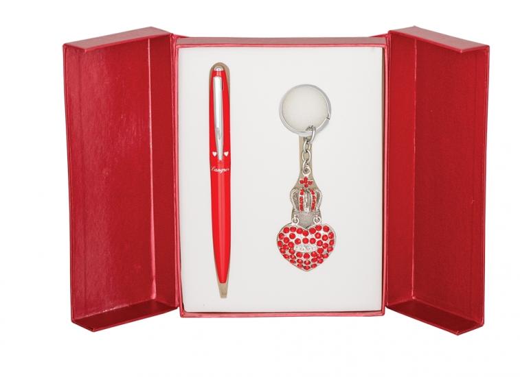 Фото - Подарочный набор ручка и брелок Дамали красный купить в киеве на подарок, цена, отзывы