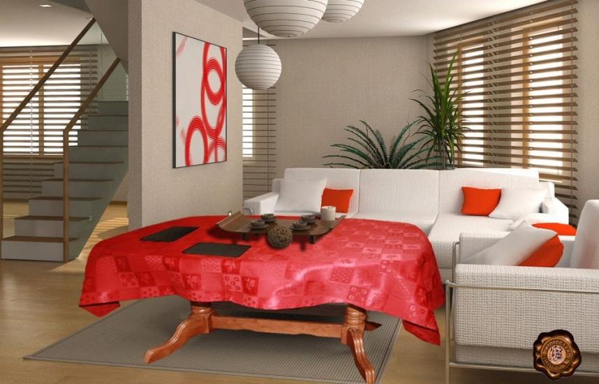 Фото - Скатерть на прямоугольный стол Халима 145х220 купить в киеве на подарок, цена, отзывы