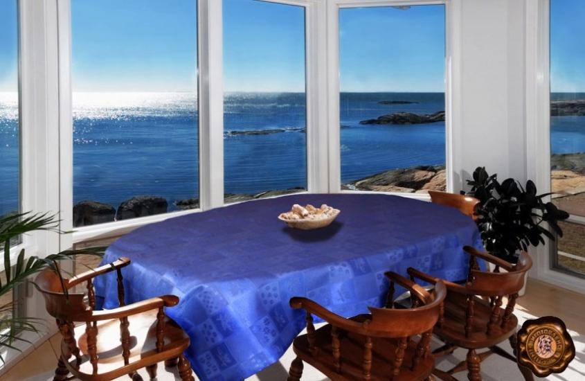 Фото - Скатерть на прямоугольный стол Акана 145х370 купить в киеве на подарок, цена, отзывы